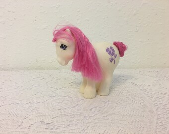 February Birth Flower Pony, Violet Pony, February Violet, My Little Pony, vintage G1 My Little Pony, Friendship is Magic