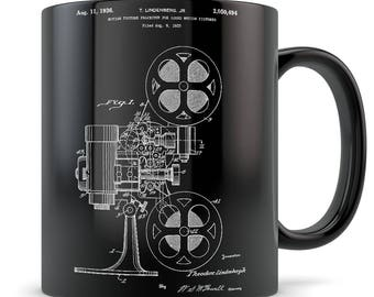 Film mug, film gift, film director gift, screenwriter gift, screenwriter mug, producer mug, producer gift, executive producer gift film reel