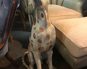 Old Lost Wax Sculpted Bronze Dalmation with Glazed Petina
