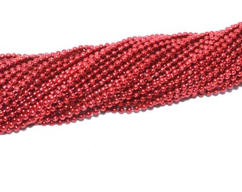 Ball chain 1.5 mm red color
