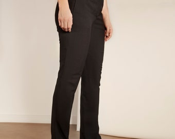 Prada Fitted Black Bell Bottoms