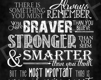 Word Art - Full Quote by Christopher Robin ~ Chalkboard Style