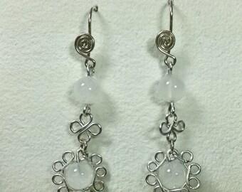 "Moon Stone Earrings ""Moonflowe"""