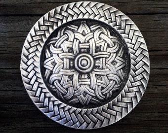 Viking Celtic Pewter Brooch | Celtic Jewelry | Viking Jewelry | Medieval Jewelry | Handcrafted Jewelry | by Treasure Cast Pewter
