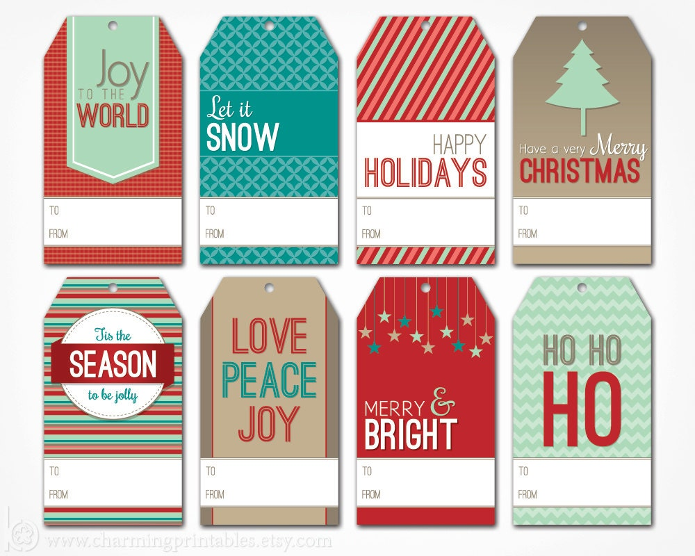 Stupendous image throughout holiday gift tags printable