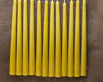 "10"" 100% Pure Beeswax Tapers (set of 24)"