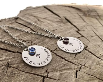 In Omnia Paratus - Necklace - Hand Stamped - Ready for Anything