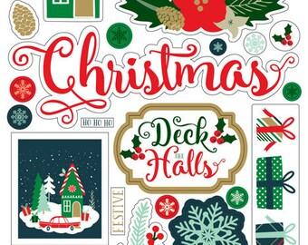 Echo Park Deck the Halls Chipboard Stickers
