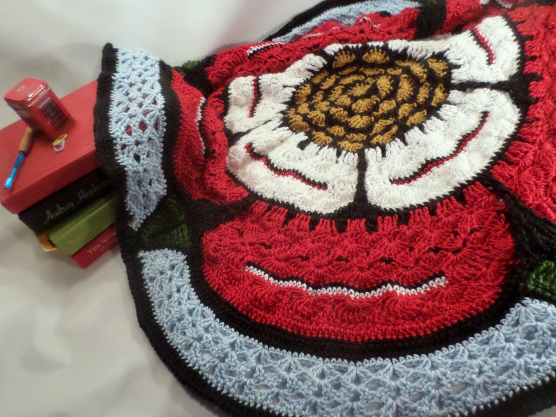 Tudor Rose Blanket Crochet Pattern // Baby Blanket // Lap Blanket ...