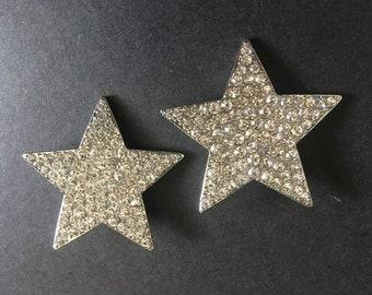 Sparkle Stars Shoe Clips, Rhinestones Crystals Bridal Shoe Clips, Dance Shoe Clips, Bridal Shoe Clips, Crystals Shoe Clips, Engaged