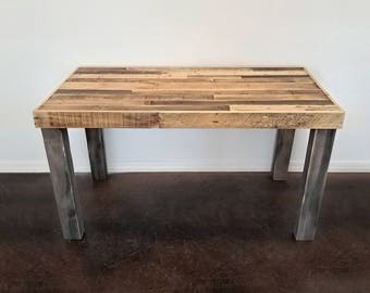 large office table. Reclaimed Wood Modern Rustic Desk Work Table Laptop Station Small Dorm Large Office Pretty Or Industrial H