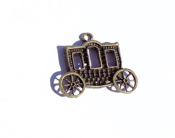 Pendant charm, Bronze carriage