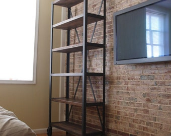 Engineers Industrial Bookcase Shelf Shelving Vintage bookshelve