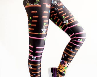 Bubble Bobble Leggings / Video Game Leggings / Geeky Leggings / Comicon Leggings / Cosplay Leggings/ Retro Game Leggings / Gamer Outfit