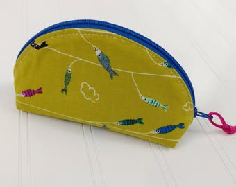 Dumpling Zipper Pouch - Fish on a Line