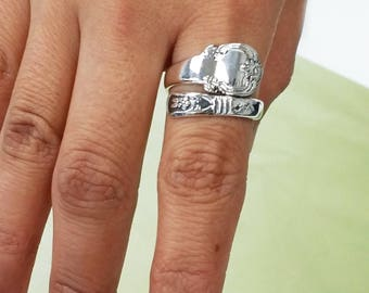 Sterling Silver Lady's Spoon Ring