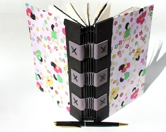 Journal or Sketchbook for the Writer or Artist - Handmade - Asian Children