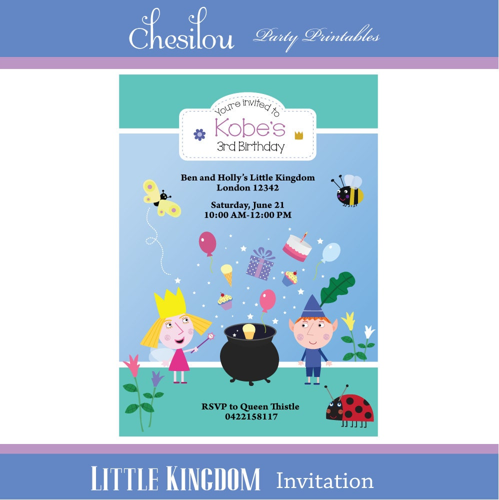 Colorful Ben And Holly Party Invitations Vignette - Invitation Card ...