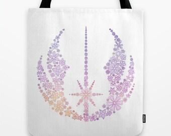 Star Wars Tote Bag Jedi Symbol Flowers Tote Bag