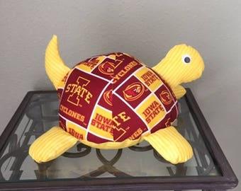 Iowa State Handmade Stuffed Turtle