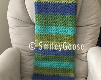 Baby Boy Blanket, Striped Baby Blanket, Textured Blanket, Small Baby Boy Blanket, Crochet Baby Blanket, Crochet Baby Afghan, Striped Blanket