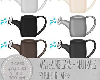 Watering Can Clip Art, Garden Clip Art, Watering Can PNG, Garden Scrapbook, Digital Scrapbook, Flower Scrapbook, Watering PNG Spring ClipArt