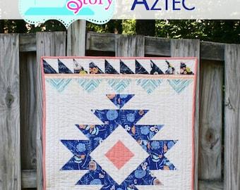 PDF quilt Pattern Modern quilt Aztec Quilt Pattern: Urban Aztec Instant Download