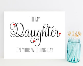 Card for Daughter on Wedding Day