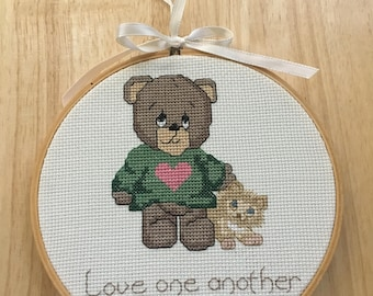 Handmade counted cross stitch picture