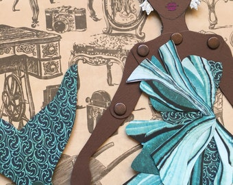 Mermaid Paper Doll 141 - Lupita in Halpern