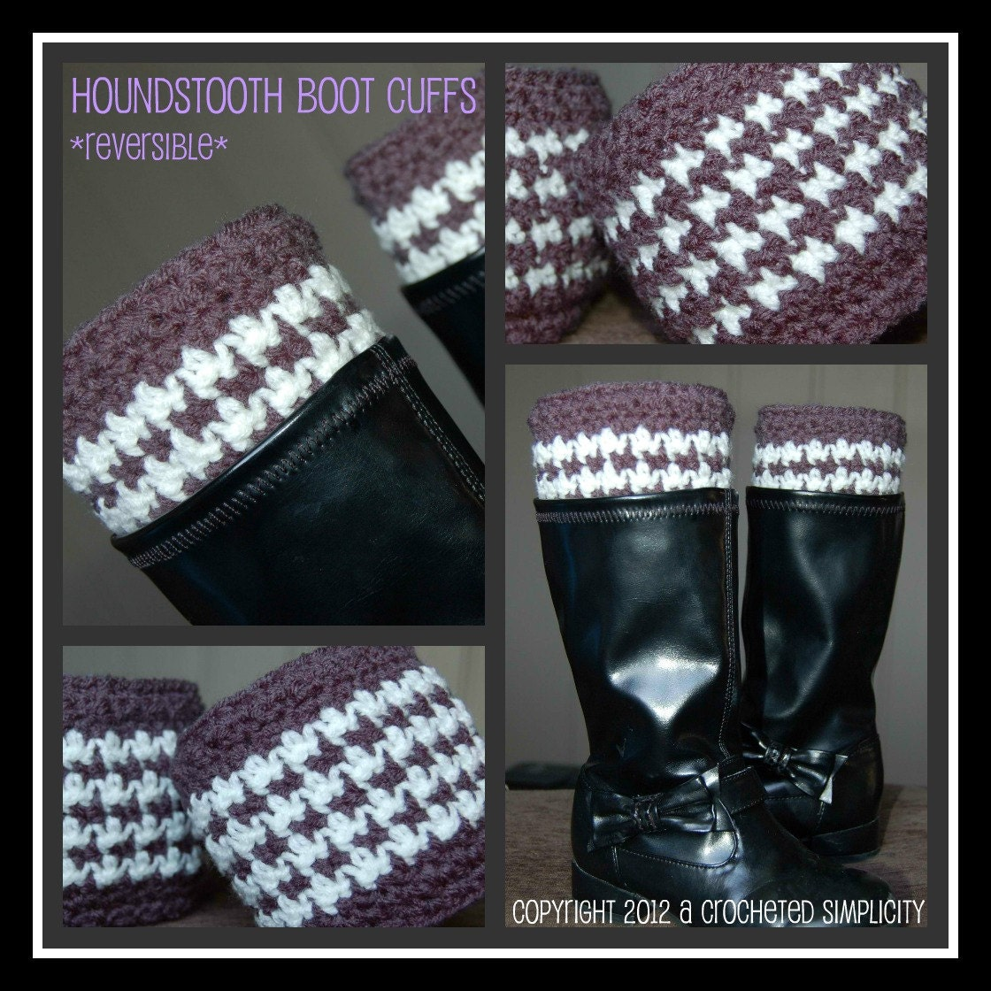 Crochet Pattern: Houndstooth Boot Cuffs w/ Permission to sell ...