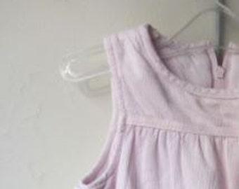 Pink sleeveless pink velvet - size 1 year / 12 months