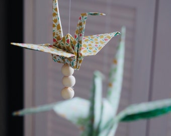 Baby mobile origami and pompom