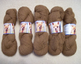 Alpaca Yarn - Toffee and Hadassa (2 ply worsted weight)