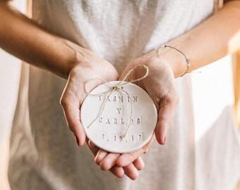 Custom Wedding ring dish. Ring bearer pillow alternative. Custom Ring dish Wedding. Ring pillow. Wedding ring holder,