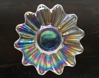 Vintage Carnival Glass Candy Dish 6.5""