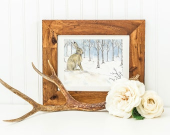 Midwinter Messenger- Archival Quality Mounted and Signed Fine Art Print