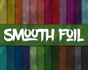 Smooth Foil Digital Paper - Colorful Foil Textures - Seamless Foil Backgrounds -  24 Colors - 12in x 12in - Commercial Use -INSTANT DOWNLOAD