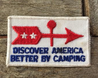 Discover America Better By Camping Vintage Travel Souvenir Patch from Voyager