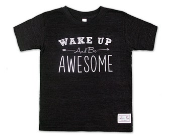 SALE Be Awesome - Tri-Blend, Black, T-Shirt, Kids Clothing