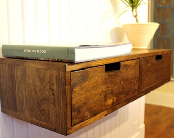 Floating Console / Cabinet / Stand With Drawers (that Can Be Used Also As An