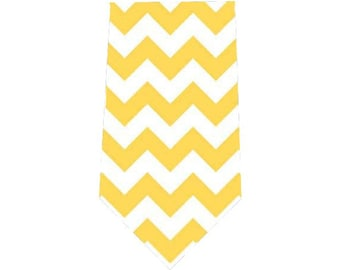 Boy's Tie Yellow Chevron Child's Necktie