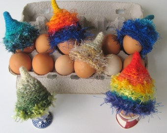 SAMPLES, Extreme Winter Hat Sample,Egg Hats Dolls Hats, Mini Art Hat, Sample Egg Cozy