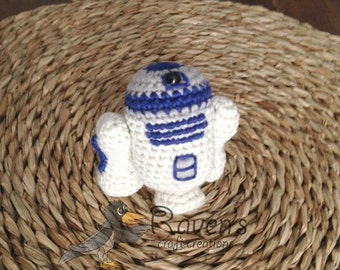 R2D2 Inspired Amigurumi doll- MADE to ORDER- Star Wars Inspired dolls