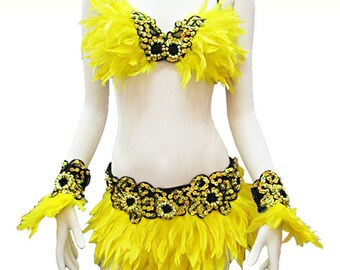 Feather Dress - Samba Plumas, Showgirl Dress, Vegas Dress, Federkleid, robe plume, Showgirl Costume, Carnival Dress, Circus Dress