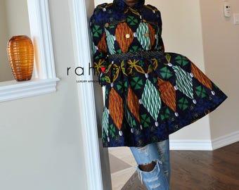 Rahyma Cowry Trench Coat Dress