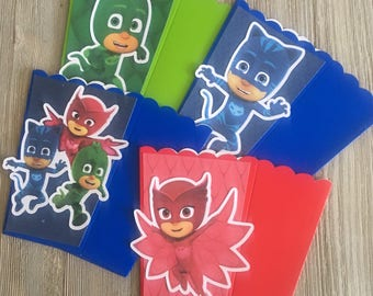 Pj Masks Night Super Heros | Popcorn Boxes, Treat Boxes, Favor Boxes, Goody Boxes, Snack Boxes, 12 Boxes