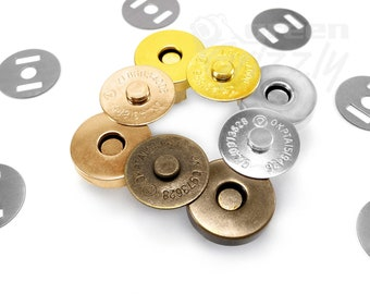 Magnetic snaps clasps fastening purses handbags craft buttons 18mm or 14mm