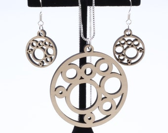 Circles and Bubbles Necklace and Earrings Set