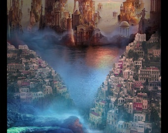 Lost Lands of Imagination - The Center of the Earth - Art Print by Brian Giberson